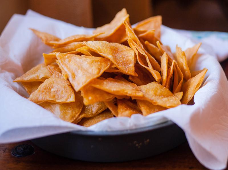 Receta de chips de tortilla casera