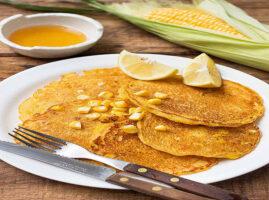 panqueques dulces de harina de maíz